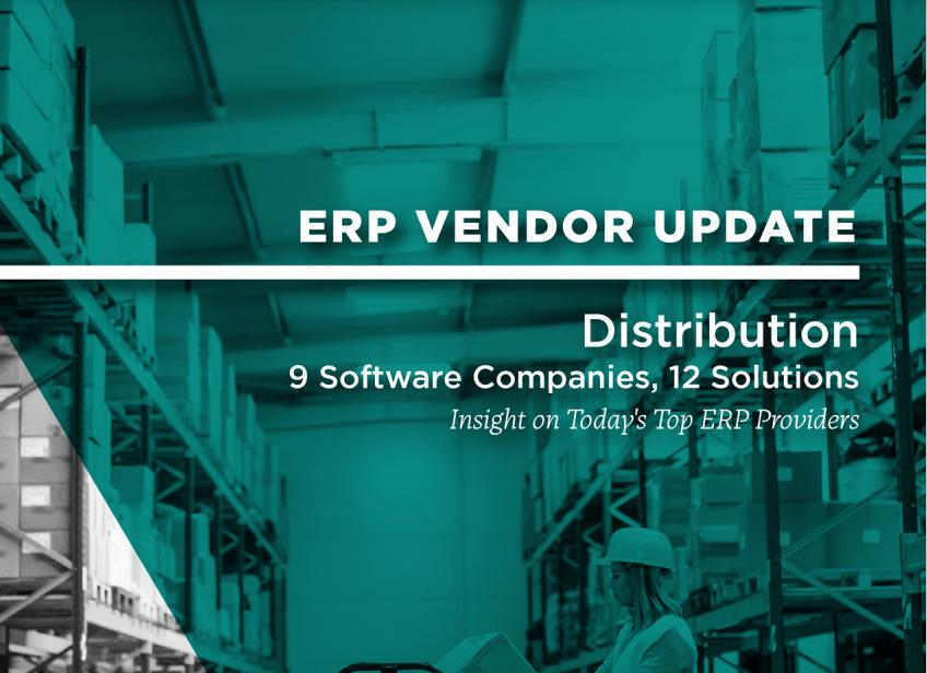 2021 ERP Vendor Update: Distribution cover